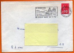 22 ST BRIEUC   CHEMINS BRETONS 1975 Lettre Entière N° EE 963 - Postmark Collection (Covers)