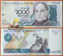 Venezuela 2000 Bolivares 1998 UNC P-80 - Venezuela