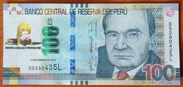 Peru 100 Soles 2015 UNC Error: Different S/n - Peru