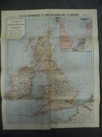 Carte De Mai 1917 Des ILES BRITANNIQUES @ GUERRE 1914 - 1918  Angleterre Ecosse Irlande Galles - Cartes Géographiques