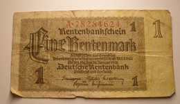 1937 - Allemagne - Germany - Weimar - 1 RENTENMARK, Berlin, Den 30 Januar 1937, A.78284624 - Other