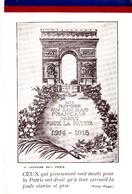 Arc De Triomphe De L'Etoile. - A. JOINARD. EDIT. Paris. CEUX Qui Pieusement..... ( Victor Hugo) - Documents Historiques