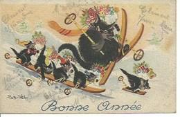 (a) Fetes & Voeux - Nouvel An -chats En Folies - Año Nuevo