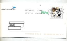 Pap Metiers D'art Flamme Chiffree Sous Code Curiosite Date + Carte Voeux Avec Timbre - Entiers Postaux