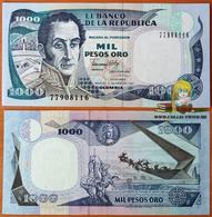 Colombia 1000 Pesos Oro 1990 UNC P-432 - Colombie