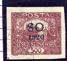 EAST SILESIA Overprint In Black On 500 H. Used Signed Darmietzel BPP.  Michel 24Ab - Czechoslovakia