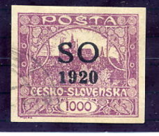 EAST SILESIA Overprint In Black On 1000 H. Used Signed Möbs.  Michel 25Ab - Czechoslovakia