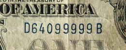 USA 1 Dollar 1928 А S/n 64099999 KL-1446 - Certificats D'Argent (1928-1957)