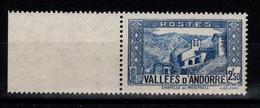 Andorre - YV 87 N** Cote 6,20 Euros - Andorre Français