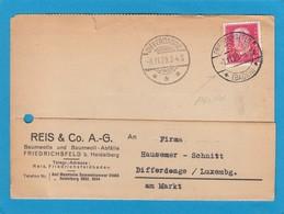 PERFIN/PERFORATION/FIRMENLOCHUNG. REIS & CO. A.G. FRIEDRICHSFELD. - Lettres & Documents
