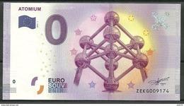 Billet Touristique 0 Euro 2017-1  ATOMIUM  Bruxelles Belgique - EURO