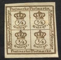 GERMANY Braunschweig Brunswick 1857 Mint No Gum - Brunswick