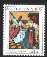 Slovaquie Peinture Maister John L'Annonciation De La Vierge Marie 2004 MNH - Slovacchia