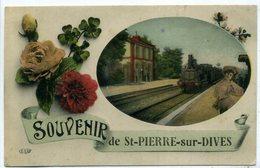 14 St-PIERRE-SUR-DIVES ++ Souvenir De ... ++ - Other Municipalities