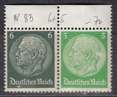 DR  W 83 Postfrisch **, Hindenburg 1939 - Se-Tenant