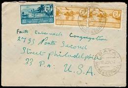 E-GUINEA. 1952. Bata - USA. Sobre Franqueo Emision Franco. - Spanje