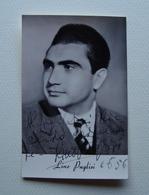 Autografo Fotografia Lino Puglisi Baritono 1956 Lirica - Autografi
