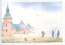 Belgique : Jodoigne Jauchelette : La Ferme De La Ramée (aquarelle Diepart) Abbaye (cp Double) - Jodoigne