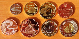 Easter Island Complete Set 2014 UNC - Coins