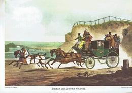 Extrait Revue M.F - 2 Reprod. Gravures De La Grande époque Anglaise - BAGGING THE FOX - PARIS AND DOVER COACH  (4472 - Histoire