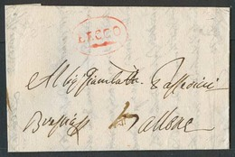ITALY Lombardy - Venetia. 1817 (17 May). EL From Lecco (Lombardia) To Brescia  (Lombardia) Bearing In Red Handstruck Lec - Italy
