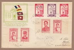 SOUVENIR PHILATÉLIQUE A L'OCCASION DE LA CONSTRUCTION DE LA CITE UNIVERSITAIRE. - Indochina (1889-1945)