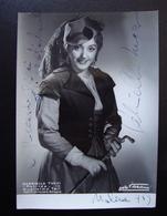 Autografo Gabriella Tucci Soprano Matilde Comunale Bologna Foto Villan Lirica - Autographes