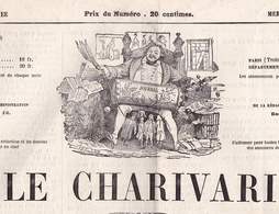 LE CHARIVARI / 25/06/1865 / LITHO  CROQUIS CHAM - Kranten