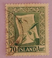 "ISLANDE  YT 246 OBLITERE ""VIEUX MANUSCRITS""ANNEE 1953 - Usati"
