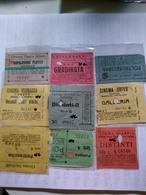 Italy  1920-1945 9 Biglietti De Ingreso Al Cinema Tutte Con Data Alcuni Con Título De Filme Al Reverso Génova TorinoRoma - Altri