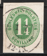 Germania Schleswig - Holstein 1865 Unif. 4 O/Used VF/F - Schleswig-Holstein