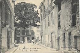 LOURMARIN Rue Et Place Savornin - Lourmarin