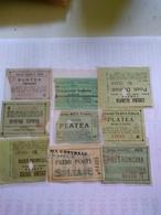 Italy  1920-1945 9 Biglietti De Ingreso Al Cinema Tutte Con Data Alcuni Con Título De Filme Al Reverso Génova La Spezia - Altri