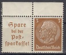 DR W 79, Postfrisch **,  Hindenburg 1939 - Se-Tenant