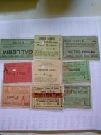 Italy  1920-1945 9 Biglietti De Ingreso Al Cinema Tutte Con Data Alcuni Con Título De Filme Al Reverso Génova Domodosola - Altre Collezioni