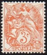 France Blanc N°  109 ** Le 3 Cts Orange Au Type IB - 1900-29 Blanc