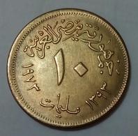 EGYPT - 10 Milliemes - AH1393 1973AD - KM 435 - AUNC - Agouz - Egypte