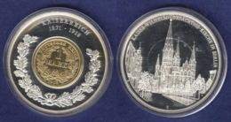 Medaille 2001 Geschichte Der Mark, Versilbert, Teilvergoldet PP 40mm - Deutschland