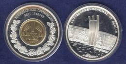 Medaille 2001 Geschichte Der Mark, Versilbert, Teilvergoldet PP 40mm - Allemagne