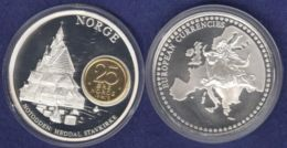 Medaille 2003 Das Geld Europas, Versilbert, Teilvergoldet PP 40mm - Allemagne