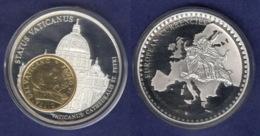 Medaille 2003 Das Geld Europas, Versilbert, Teilvergoldet PP 40mm - Deutschland