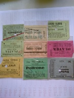 Italy  1920-1945 9 Biglietti De Ingreso Al Cinema Tutte Con Data Alcuni Con Título De Filme Al Reverso Génova Chiavari - Altre Collezioni