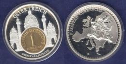 Medaille 2003 Das Geld Europas, Versilbert, Teilvergoldet PP 50mm - Allemagne