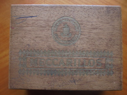 "Ancienne Boite En Bois Cigares ""50 Meccarillos"" (vide) - Cigares - Accessoires"