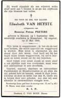 Antwerpen Brasschaat Merxem  Elisabeth Van Heyste    Mijnontploffing Bredabaan  Oorlogsslachtoffer WOII  Verhaal Zie Sca - Images Religieuses