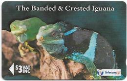 Fiji - Banded & Crested Iguana - 19FJB (O Normal), 1996, Used - Fiji