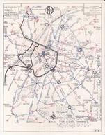 TIBV - TRANSPORTS INTERCOMMUNAUX  DE BRUXELLES VICINAUX - 1968 - PLAN Du RESEAU Des TRAMWAYS Et AUTOBUS - Europe