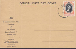 K.U.T. Kenya Uganda Tanganyika Official First Day Cover 1953 QEII Coronation Diamond Mines RO (2 Scans) - Kenya, Uganda & Tanganyika