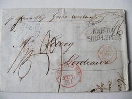 MARQUE POSTALE ,  LETTRE  De NOUVELLE ORLEANS Vers BORDEAUX   1839 - Marcophilie (Lettres)