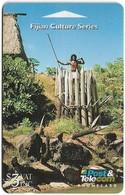 Fiji - Fijian Warrior Defending Fort, 07FJB (O Normal), 1994, Used - Fiji